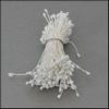 Meeldraden Wit mini 144 stuks   per setje