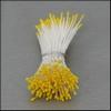 Meeldraden Geel mini 144 stuks   per setje