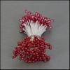 Meeldraden Rood parelmoer 144 stuks   per setje