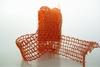 Jute Netband Oranje   per meter