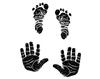 4 handjes en voetjes