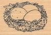 Nest met eieren    per stuk