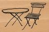 Tuin tafel en stoel   per stuk