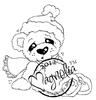 Cozy Christmas Bear   per stuk