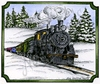 Train in Notched Rectangle   per stuk