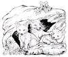 Three baby Fox in Den   per stuk