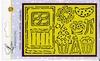 Line embossing stencil:  Deur   per stuk