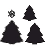 Christmas Tree   per set