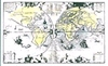 Wereld kaard   per stuk