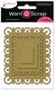 Fleur de lis rectangles   S4-317   per set