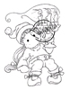Tilda with Christmas Candle   per stuk