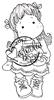 Tilda with Christmas Hearts   per stuk