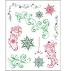 Kerst sokken en swirls