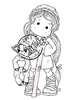 Holy Tilda with Lamb   per stuk
