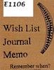 Wish List    per stuk