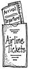 Airline tickets   per stuk