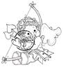 Tilda with Heart Arrows   per stuk