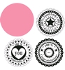 Circle die & Sentiment stamps   per set