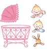 Eline's baby stempels en stansen set
