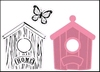 Birdhouse home stempel en stans set