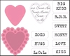Candy Hearts GB tekst   per set