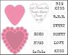 Candy Hearts GB tekst   per set