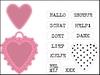 Candy Hearts tekst NL   per set