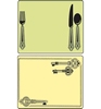 Place Setting & Keys Set   per set