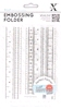 Embossing Folder Happy Days  Measuring Tape   per stuk