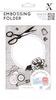 Embossing Folder Happy Days Haberdashery   per stuk