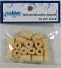Whole Wooden Spools 16 st.   per zakje