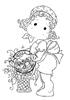 Tilda with Daffodil Basket