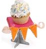 Cupcake Stand & Pennant   per set