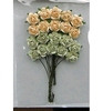 Rose Bunches Green-Off White