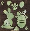 Embossing stencil-Pasen (haas en ei)   per stuk