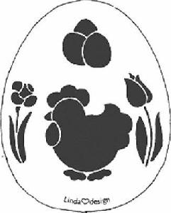 Embossing stencil-Pasen (kip en ei)   per stuk
