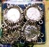 Opwerkschakelset round strass silver   setje van 5