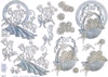 Bloemenmand knipvel met embossed en debossed bloemen   per vel