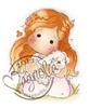 Tilda with her rabbit / lamb