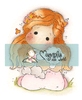 Tilda with her Rabbit mini   per stuk