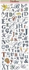 Alfabetstickers: Bruiloft