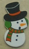 Sneeuwpopje 3,5 cm hoog   per stuk