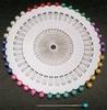 Glaskopspelden rond multicolor 40 stuks