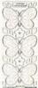 Transparante glitter stickers Stitch design Vlinders   per vel