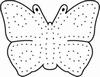 Borduurstempel met vlinder   per stuk