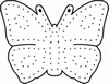 Borduurstempel met vlinder