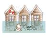 Vintage Swedish coast cottage  Mini   per stuk