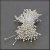 Meeldraden Wit parelmoer 144 stuks   per setje