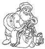 Father Christmas with Toys   per stuk