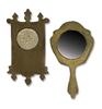 Mini Mirror & Wall Clock   per setje